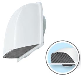 メルコエアテック 換気扇 【AT-200FWSD5-W】 外壁用(ステンレス製) 深形フード(ワイド水切タイプ)|縦ギャラリ・網 防火ダンパー付(72℃) [新品]