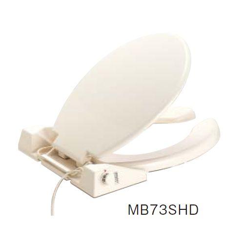 ミヤコ MIYAKO MB73SHD手元スイッチ型暖房便座(前割)【MB73SHD】 寸法:パステルアイボリー【メーカー直送のみ・代引き不可・NP後払い不可】[新品]