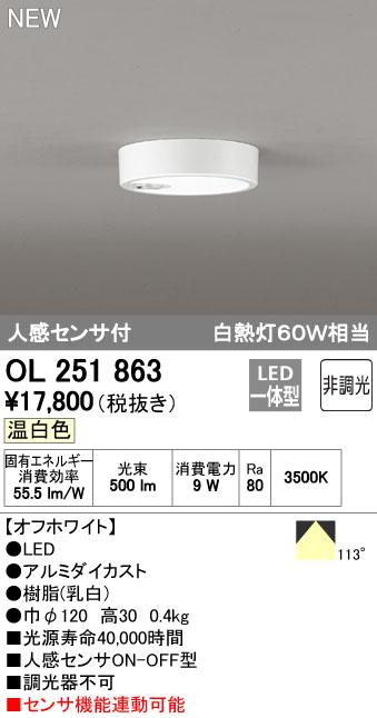 オーデリック 住宅用照明 インテリア 洋 シーリングライト【OL 251 863】OL251863[新品]