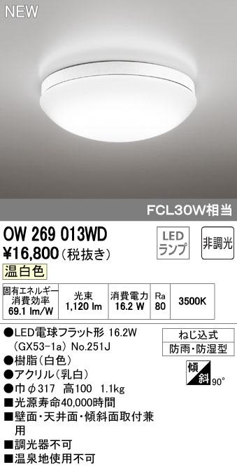 オーデリック 住宅用照明 インテリア 洋 バスルームライト【OW 269 013WD】OW269013WD[新品]