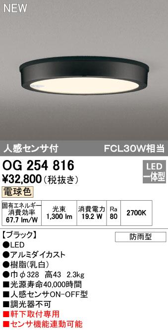 オーデリック 外構用照明 エクステリアライト ダウンライト【OG 254 816】OG254816[新品]