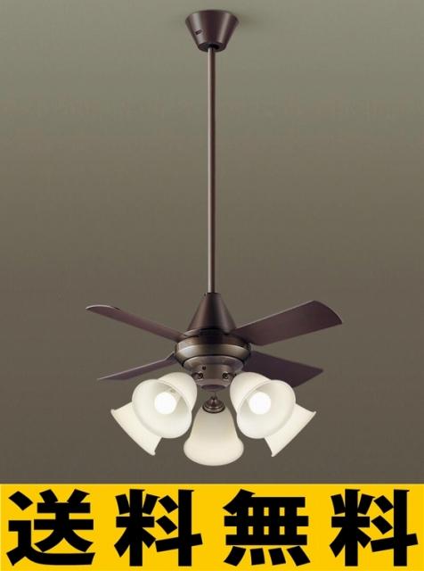 パナソニック 照明 直付吊下型 LED(電球色) シーリングファン(照明器具付) 100形電球5灯相当・13W 風量4段切替・逆回転切替・1/fゆらぎ・1?6時間(1時間単位)タイマー/?14畳(当社独自基準) 【XS97142】[新品]