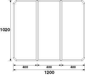 パナソニック 風呂フタ(長辺1200×短辺1020:組みフタ:長方形:3枚:切り欠きなし) 【GZ965C】 [納期2~4週間] [新品]