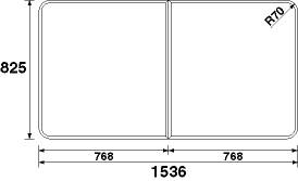 パナソニック 風呂フタ(長辺1536×短辺825:組みフタ:長方形:2枚:切り欠きなし) 【RL91058SC】 [納期2~4週間] [新品]