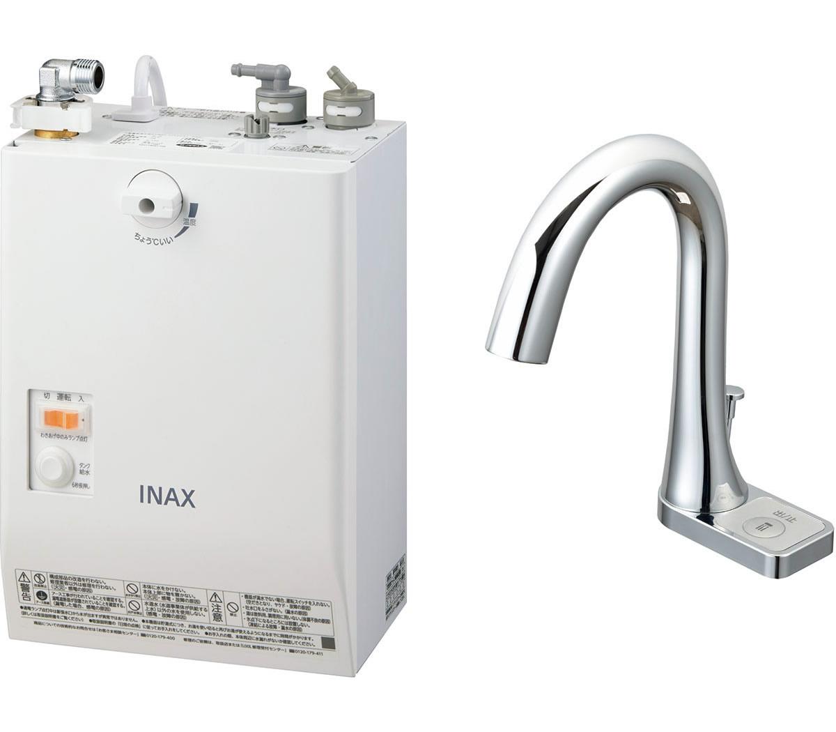 INAX・LIXIL 電気温水器【EHMN-CA3SB2-211C】 3L ゆプラス 自動水栓一体型壁掛 適温出湯タイプ 自動水栓:グースネックタイプ 手動スイッチ付 [イナックス・リクシル]