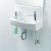 INAX LIXIL・リクシル 手洗器【YL-A74H2B】ハンドル水栓 同上水石けん入れ付タイプ アクアセラミック(受注後3日) 床給水床排水[新品]