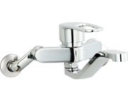 INAX LIXIL・リクシル キッチン用水栓金具壁付タイプ シングルレバー クロマーレS(エコハンドル) 【SF-WM436SY】[新品]