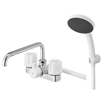 三栄水栓[SANEI]【SK710S5K-13】ツーバルブデッキシャワー混合栓[新品]