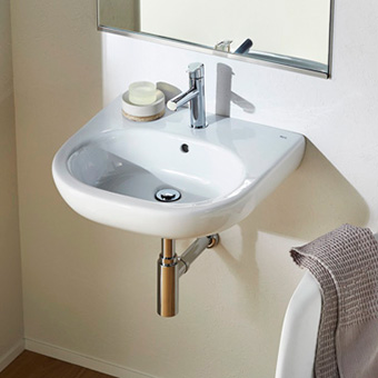 三栄水栓[SANEI]【SR327244-W】洗面器[新品]