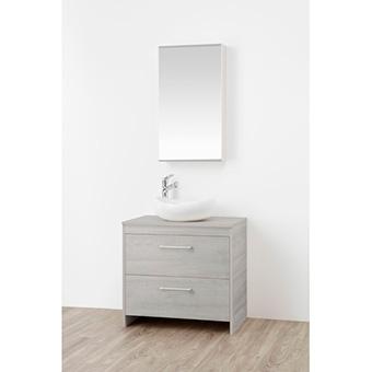 三栄水栓[SANEI]【WF015S2-750-PG-T1】洗面化粧台(鏡付)[新品]