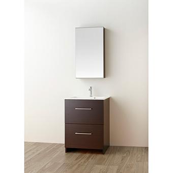 三栄水栓[SANEI]【WF019S2-600-DB-T3】洗面化粧台(鏡付)[新品]