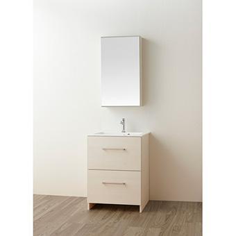 三栄水栓[SANEI]【WF019S2-600-IV-T4】洗面化粧台(鏡付)[新品]