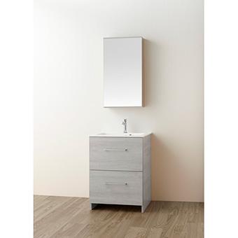 三栄水栓[SANEI]【WF019S2-600-PG-T2】洗面化粧台(鏡付)[新品]