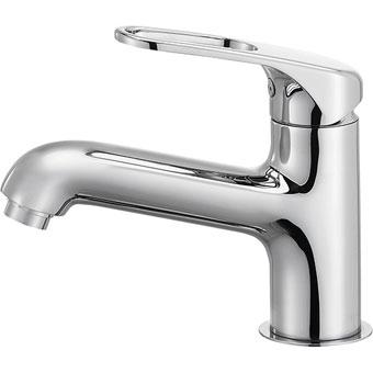 三栄水栓[SANEI] シングルワンホール洗面混合栓(省施工ナット付)【K4710NJV-U-13】[新品]
