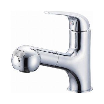 三栄水栓[SANEI]【K3703JK-13】シングルスプレー混合栓(洗髪用)[新品]