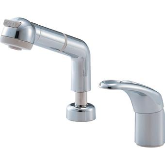 三栄水栓[SANEI]【K3761JV-C-13】シングルスプレー混合栓(洗髪用)[新品]