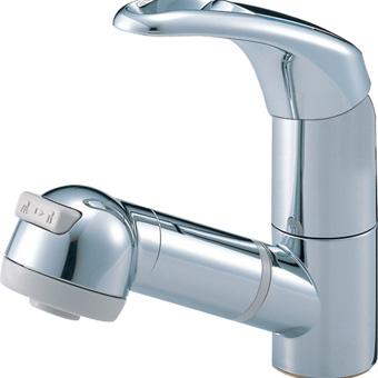 三栄水栓[SANEI]【K3763JK-C-13】シングルスプレー混合栓(洗髪用)[新品]