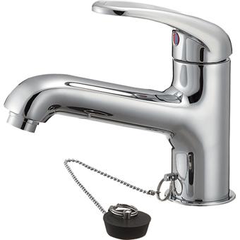 三栄水栓[SANEI]【K4710V-13-23】シングルワンホール洗面混合栓[新品]