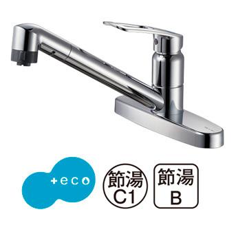 三栄水栓[SANEI]【K6711MEK-13】シングル台付切替シャワー混合栓[新品]