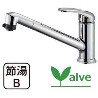 三栄水栓[SANEI]【K87101JV-13】シングルワンホールスプレー混合栓[新品]