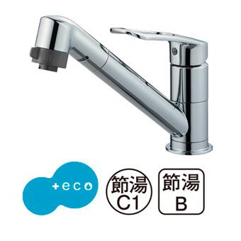 三栄水栓[SANEI]【K8711MEJK-S-13】シングルワンホール切替シャワー混合栓[新品]