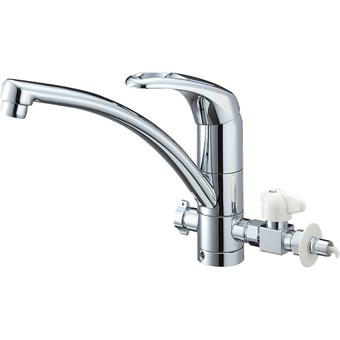 三栄水栓[SANEI]【K8761TJV-V2S-13】シングルワンホール分岐混合栓[新品]