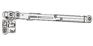 ノダ クローザ機能付き吊り車 【P-711】内装引戸 上吊り引戸用 入数:1 [新品]