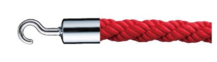シロクマ パーティションロープ φ25×1200mm Cr・レッド 【FPR-25C】【メーカー直送のみ・代引き不可・NP後払い不可】[新品]