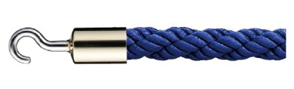 シロクマ パーティションロープ φ25×1200mm 金・ブルー 【FPR-25C】[新品]