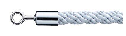 シロクマ パーティションロープ φ25×1800mm Cr・シルバー 【FPR-25R】【メーカー直送のみ・代引き不可・NP後払い不可】[新品]