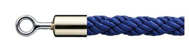 シロクマ パーティションロープ φ25×1200mm 金・ブルー 【FPR-25R】[新品]
