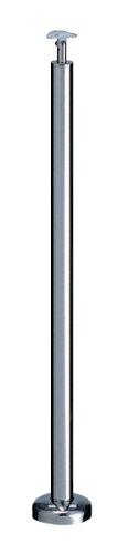 シロクマ 支柱B(ベースプレート式) 鏡面磨 【ABR-708B】【メーカー直送のみ・代引き不可・NP後払い不可】[新品]