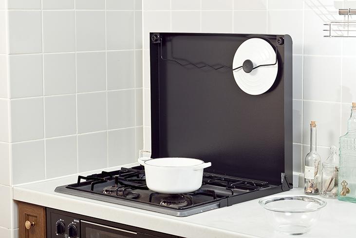 池永鉄工 システムキッチン ビルトインコンロ用 コンロカバー IK20-B 60cm ブラック