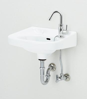 アサヒ衛陶 平付洗面器セット Pトラップ ホワイト色 L250DPSET