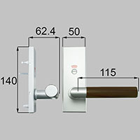 LIXIL リクシル トステム ウッドグリップDタイプ(表示錠)【商品コード:MZTSWDH51 内容物:把手セット(内・外)×1 金属部:ファインシルバー、木部:ショコラーデ 】[新品]