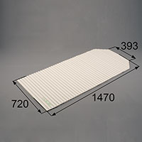 LIXIL リクシル トステム 浴槽巻きフタ【商品コード:RAAZ629 内容物:本体×1 ホワイト 】[新品]