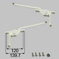LIXIL リクシル トステム オペレーターハンドル(左右セット) 【商品コード:SET678BD 内容物:本体×2、ハンドル×2、取付ネジセット×2、取付用工具×2 ホワイト 】[新品]
