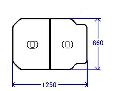 TOTO 浴室部品・補修品 風呂ふた 把手付き組み合わせ式ふろふた(外寸:1250×860mm)【PCF1300R-NW1】【PCF1300RNW1】[新品]