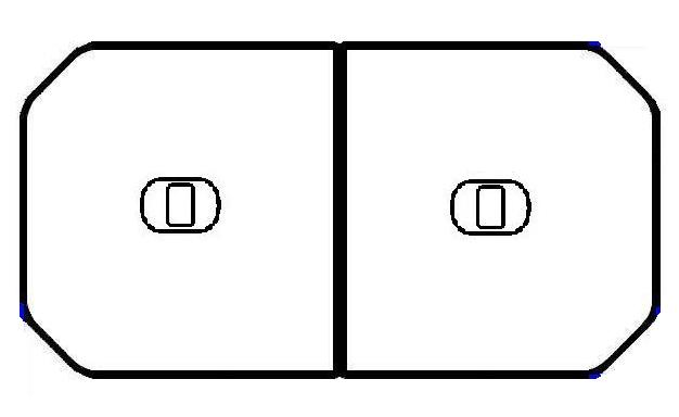 TOTO 浴室部品・補修品 風呂ふた 軽量把手付組み合わせ式ふろふた(外寸:1150×710mm)【PCF1210R-NW1】【PCF1210RNW1】[新品]