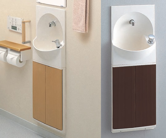 TOTO トイレ 手洗器付キャビネット 【YSC46SX#MV】(ダルブラウン) 【YSC46SX#ML】(ミルベージュ) ハンドル式水栓タイプ[新品]
