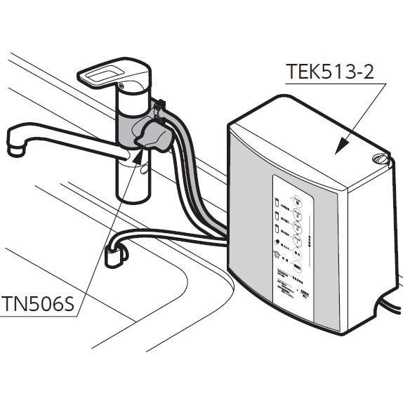 TOTO 水栓金具 キッチン用水栓金具【TN506S】 アルカリ本体分岐金具 台付きタイプシングルレバー混合栓[新品]