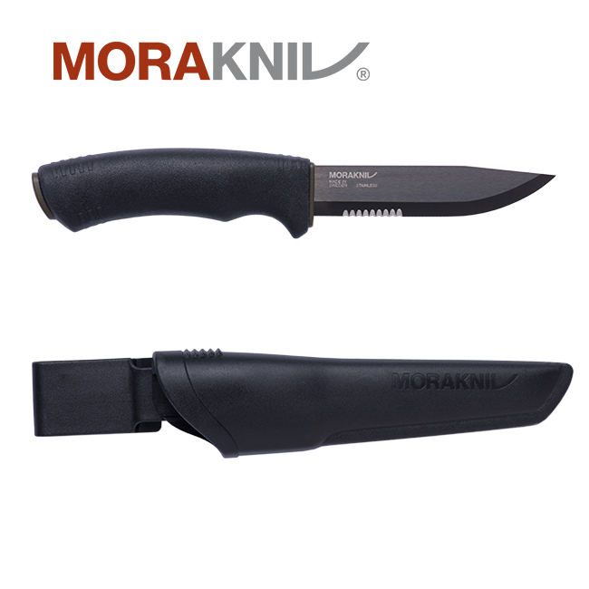 Morakniv 在庫一掃 贈物 Bushcraft Black SRTモーラナイフ 正規品 ブッシュクラフト SRT ブラック