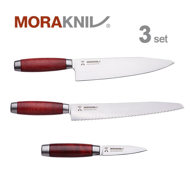 Morakniv Kitchen Knife 3set Classic 1891, redモーラナイフ キッチンナイフ3本セット クラシック 1891 レッド【正規品】