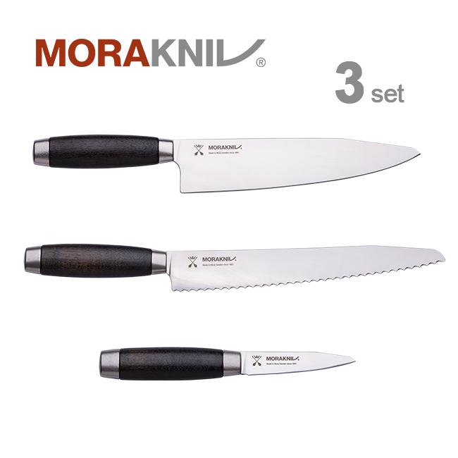 Morakniv Kitchen Knife 3set Classic 1891, blackモーラナイフ キッチンナイフ3本セット クラシック 1891 ブラック【正規品】