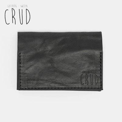 CRUD Nordre Card 未使用品 case Wax Blackクルード 正規品 ノルデ 送料無料お手入れ要らず ワックス カードケース ブラック