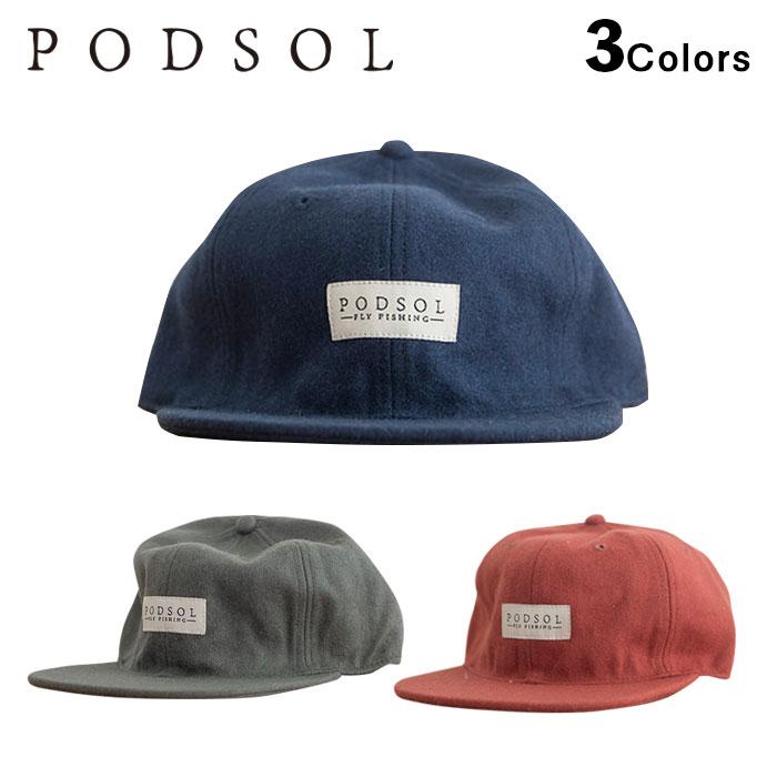 PODSOL LOGO WOOL CAPポッドソル 評価 ウールキャップ 正規品 AL完売しました ロゴ