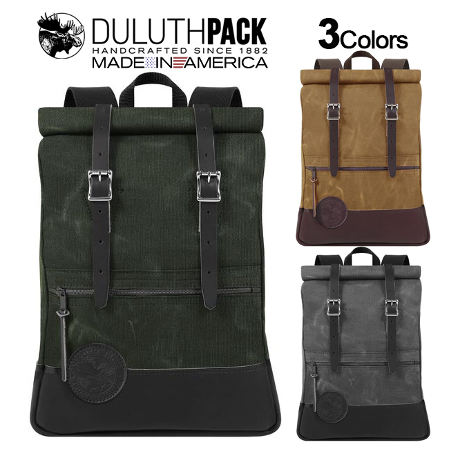 Duluth Pack Deluxe Roll-Top Scout Pack WAXダルースパック デラックス ロールトップ スカウトパック ワックス【正規品】