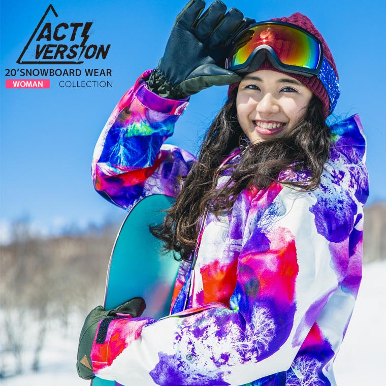 安心の実績 高価 買取 強化中 スノーボードウェア レディ-ス スキーウェア 上下 ACTIVERSION レディース 直営限定アウトレット ACTI 送料無料 スノーボードウェア上下セット スノボウェア