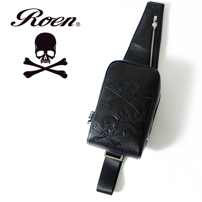 Roen( ロエン )2WAY sling bag (3r394002) ◇ body bag MENS men gap Dis cowhide  business bag business back roen ロエンレザーバッグバッグレオパードヒョウ ... ca93a649a9d8