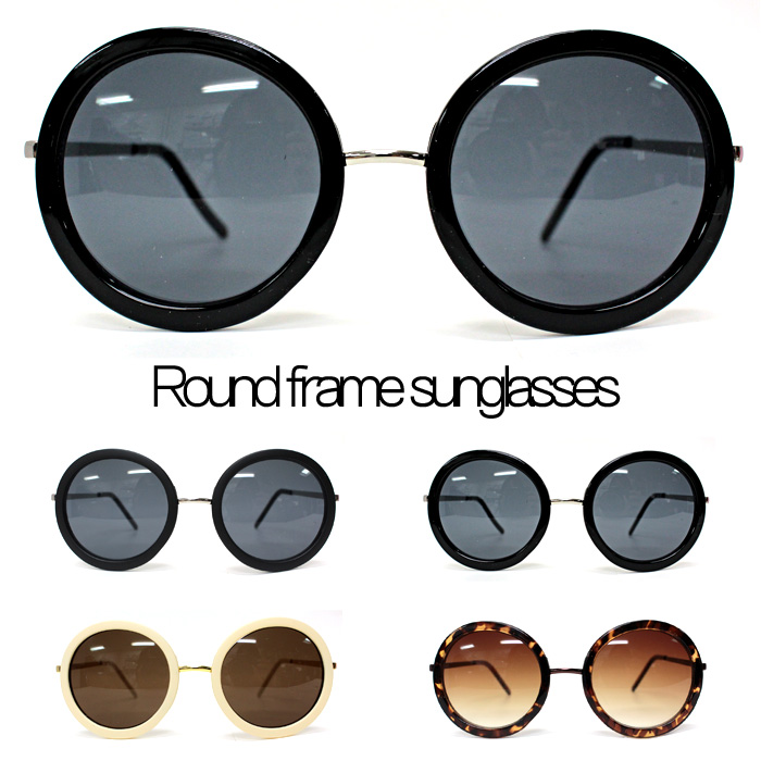 upper gate: Womens mens men big round frame sunglasses big frame ...